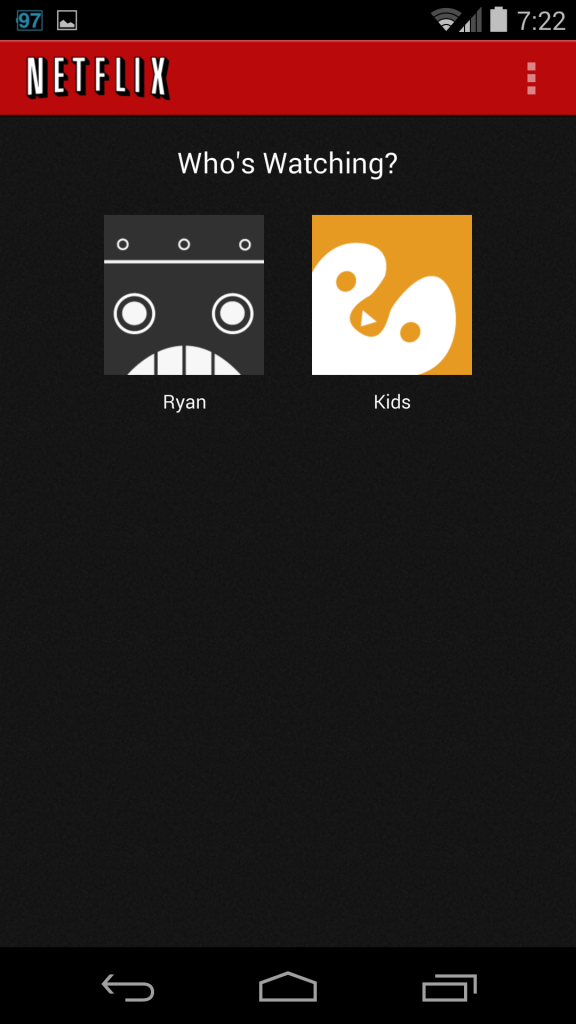 Netflix Profiles Screenshot