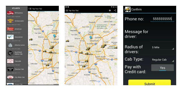 Tap Your Taxi Collage