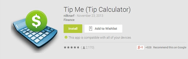 Tip Me (Tip Calculator)