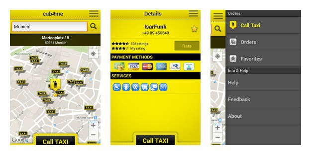 cab4me taxi finder Collage