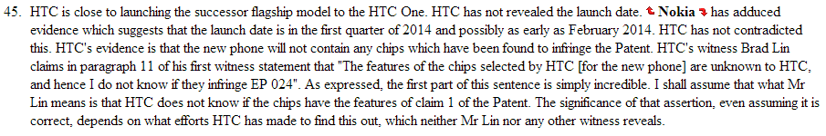 htc two ruling