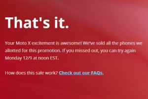 Moto X for $349 Sells Out In Under 10 Minutes – You'll Have to Try Again on Monday