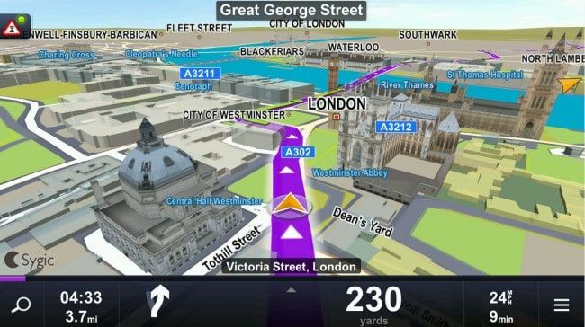 Sygic GPS Navigation Maps Review Features Opinion Apk - Georgia map for sygic