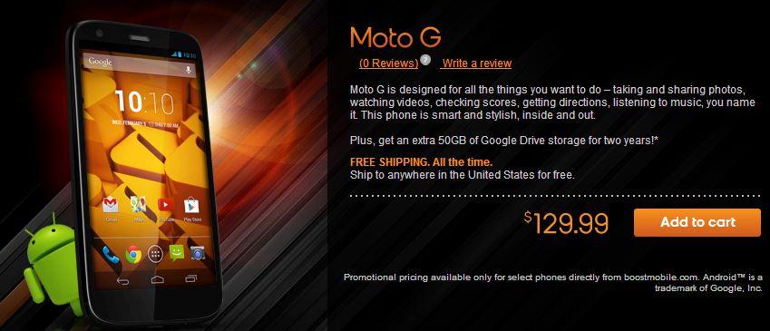 BoostMobile - Moto G - 15012014