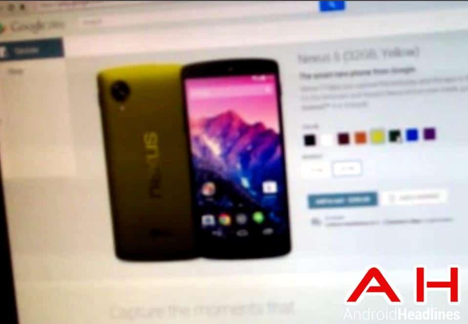 Nexus 5 Colors