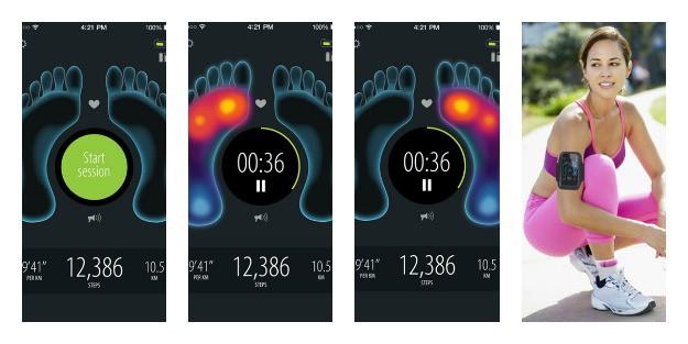 Sensoria Fitness Socks Collage