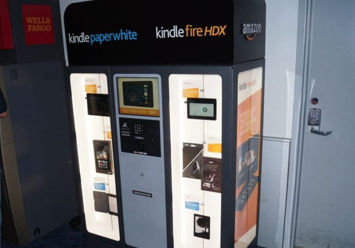 Amazon Kindle Vending Machine Pops up at McCarran Airport as CES Comes to a Close