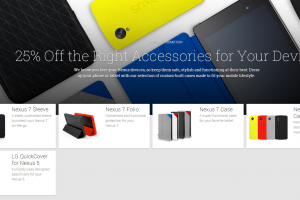 "Google Offering 25% off Select Nexus 5 and Nexus 7 Accessories ""For a Limited Time"""