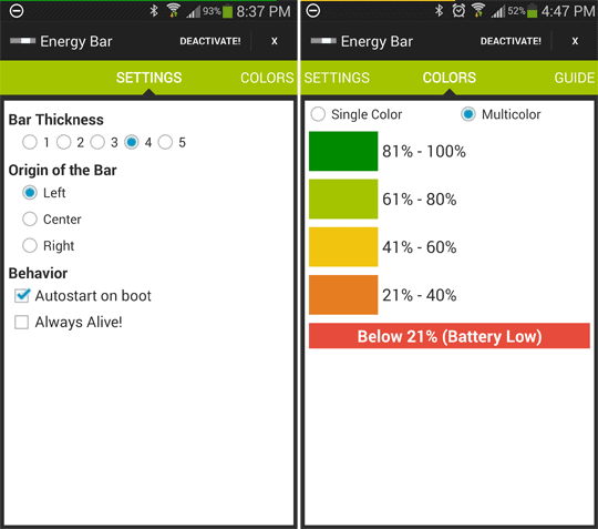 Energy bar for Android 610x407 2 - Energy Bar Keeps Your More Aware A Your Battery In A Unique Way