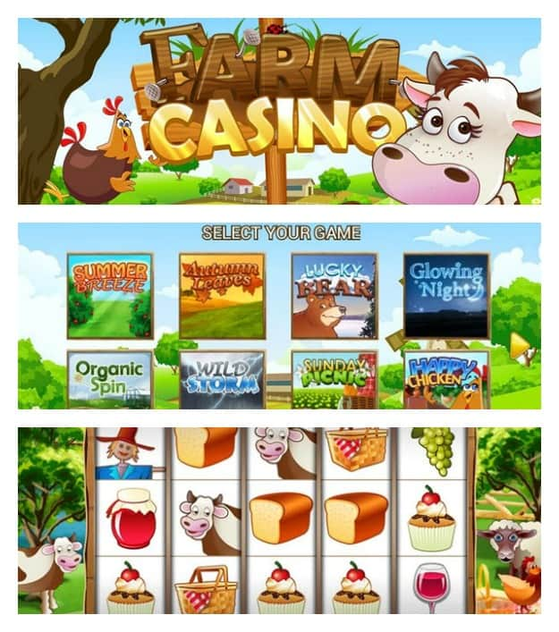 Farm Casino - Slots Machines Collage