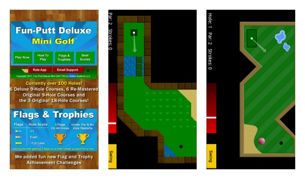 Fun-Putt Mini Golf Collage
