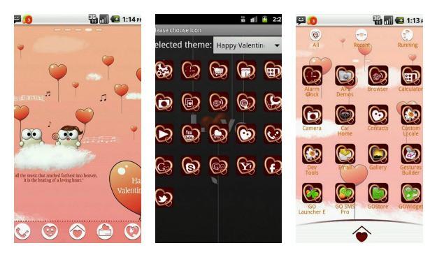 Go Launcher Valentine Collage