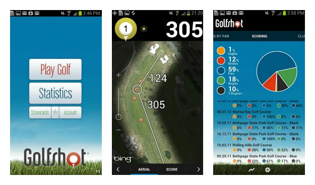 Golfshot Golf GPS Collage