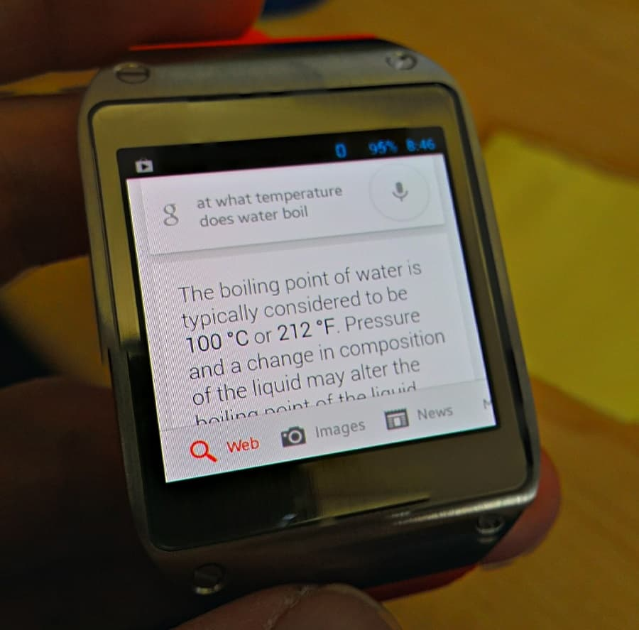 Google Now Galaxy Gear