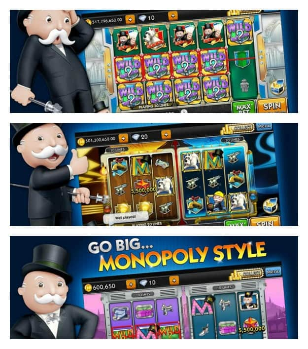 MONOPOLY Slots Collage