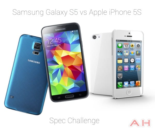 Samsung Galaxy S5 vs Apple iPhone 5S AH