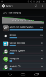 Android SmartPhone application drains device battery.