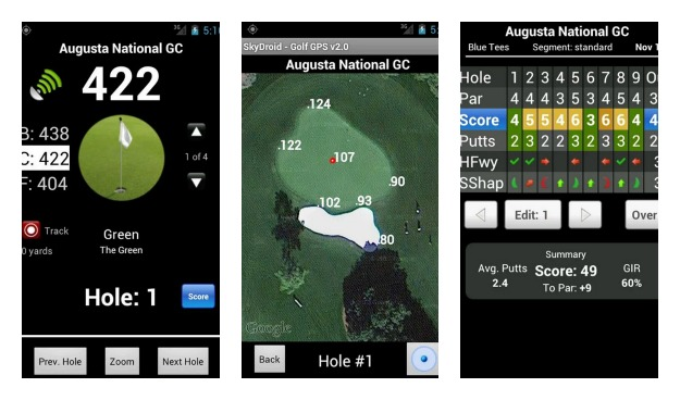 SkyDroid - Golf GPS Collage