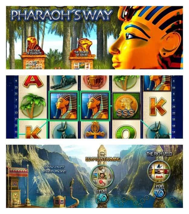 Slots - Pharaoh's Way Collage