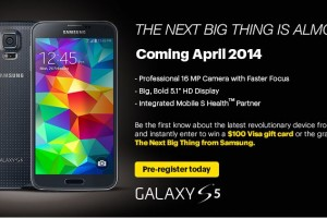 Sprint Now Allowing Prospective Galaxy S5 Buyers to Pre-Register for More Information
