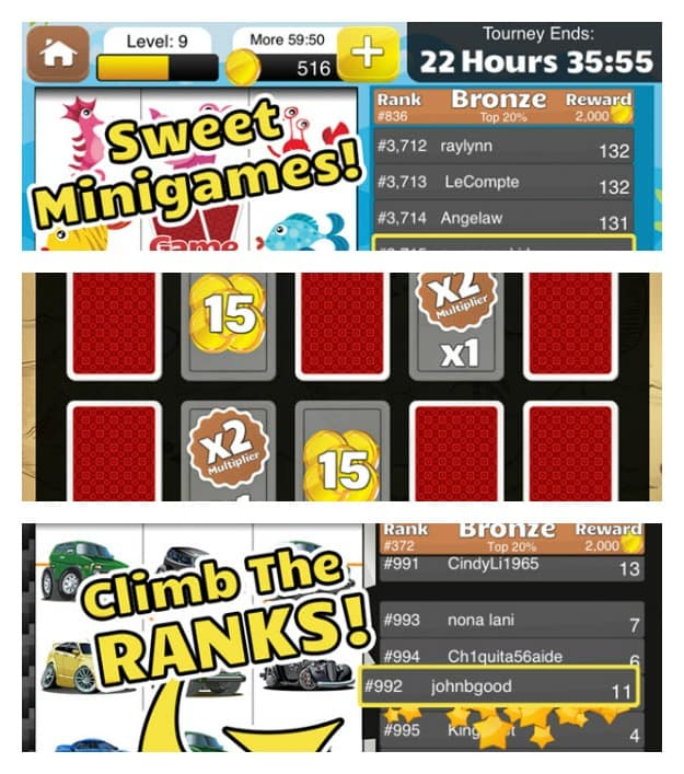 Tourney Slots Collage