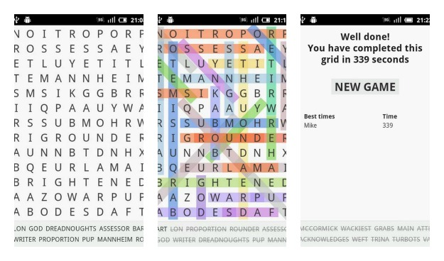 Word Search Collage