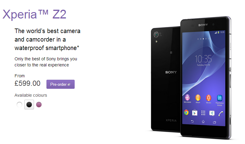 Xperia™ Z2   Android Phone   Sony Smartphones  UK