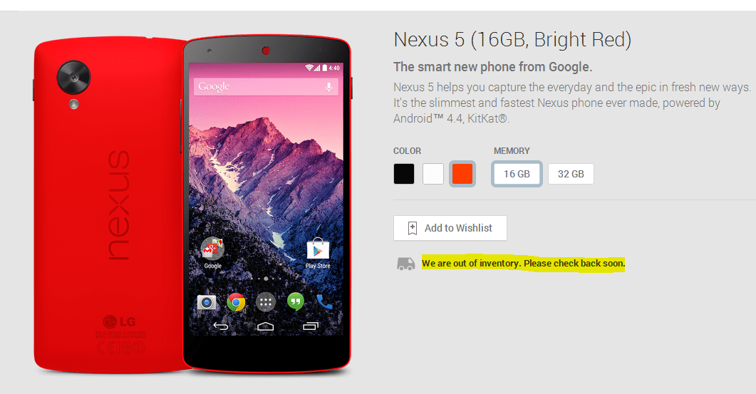 red-nexus-5-sold-out