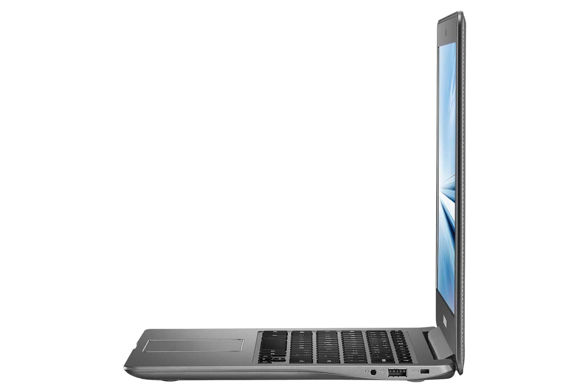 Chromebook2 13 005 Side Open Titanium Gray