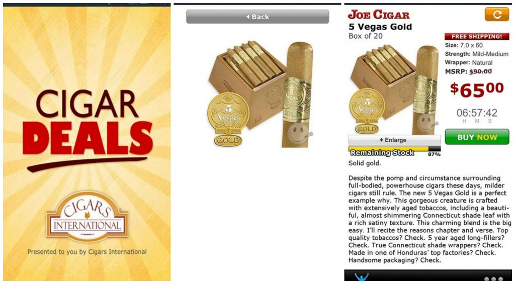 Cigar Deals Collage