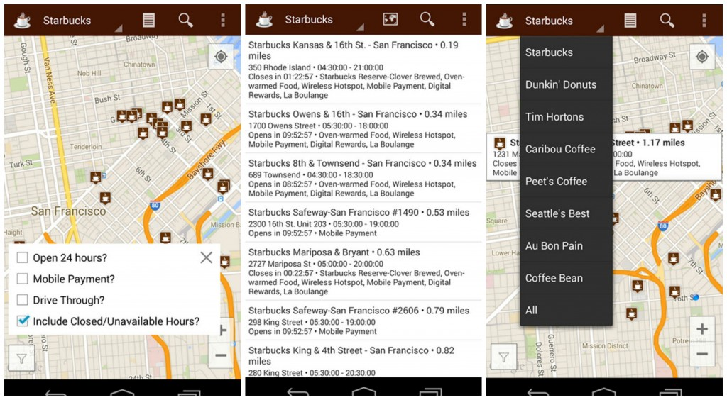 Coffee Finder Collage