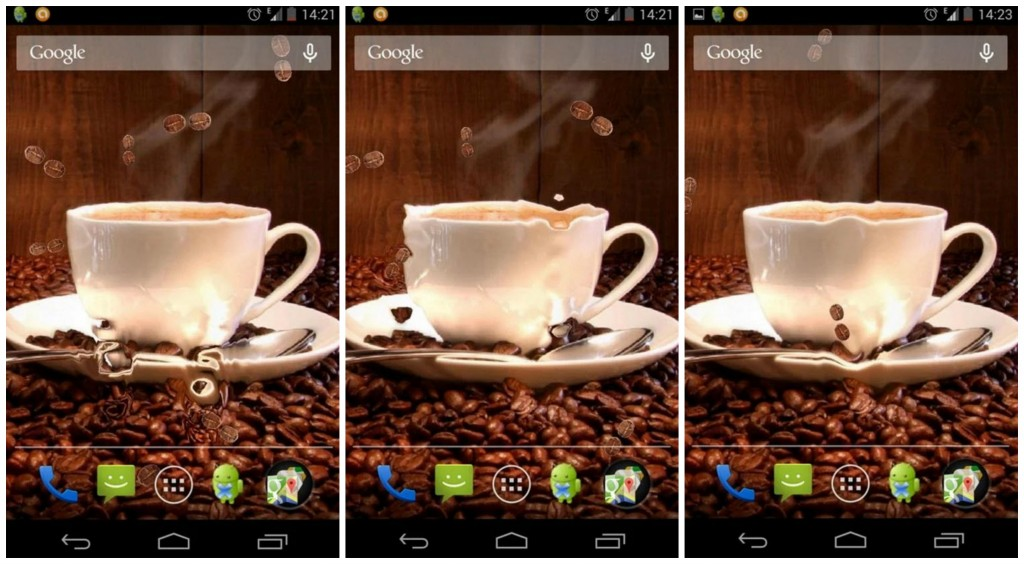 Coffee Live Wallpaper Collage