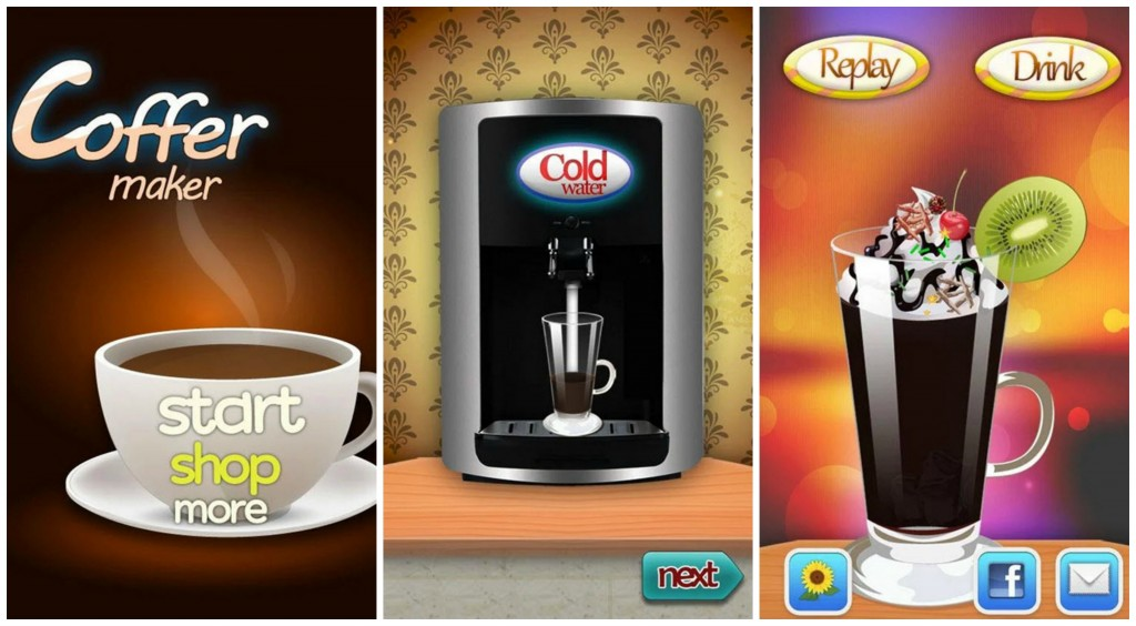 Coffee Maker Cooking Games Collage