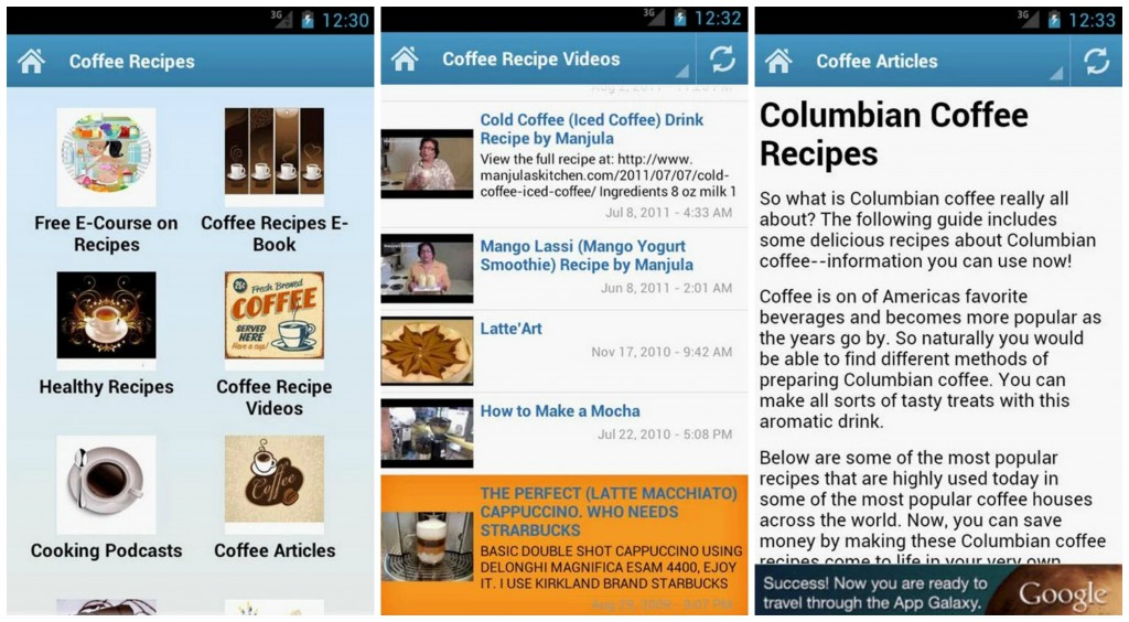 Coffee Recipes Collage