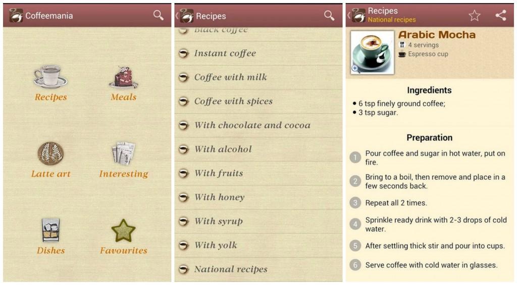 Coffeemania Recipes Collage