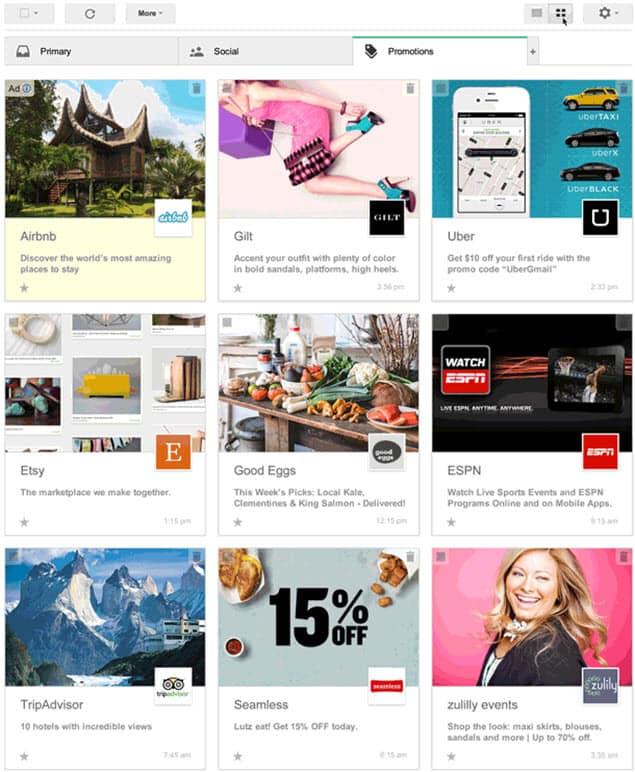 Google Visual Promotions