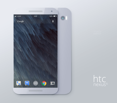 HTC Nexus 6 Concept Render