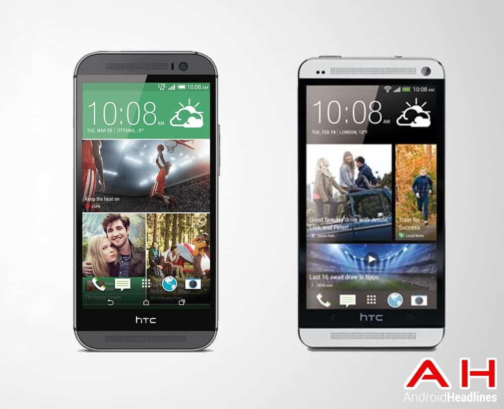 HTC One M8 vs HTC One M7 AH