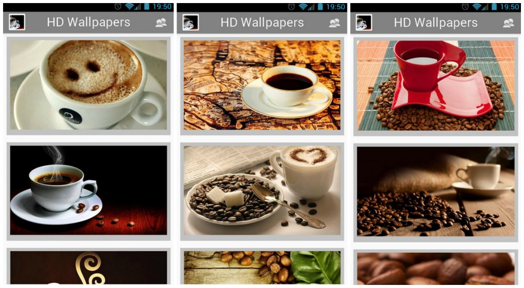 I love coffee HD wallpapers Collage