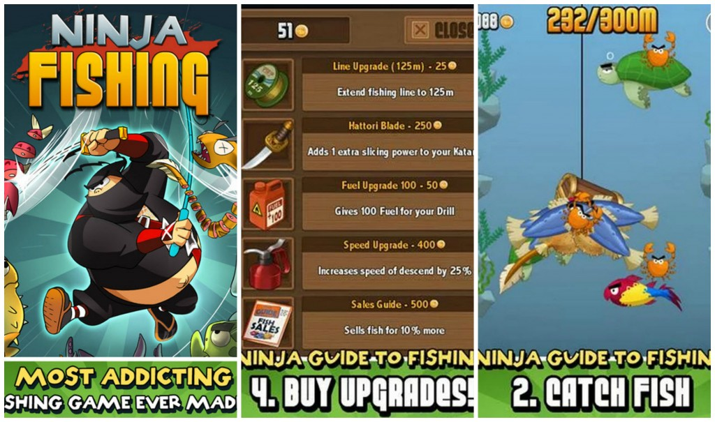 Ninja Fishing Collage