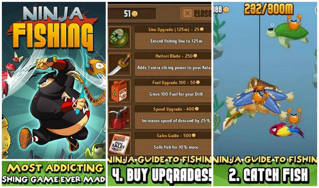 Ninja Fishing Collage