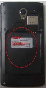 R1001 label location