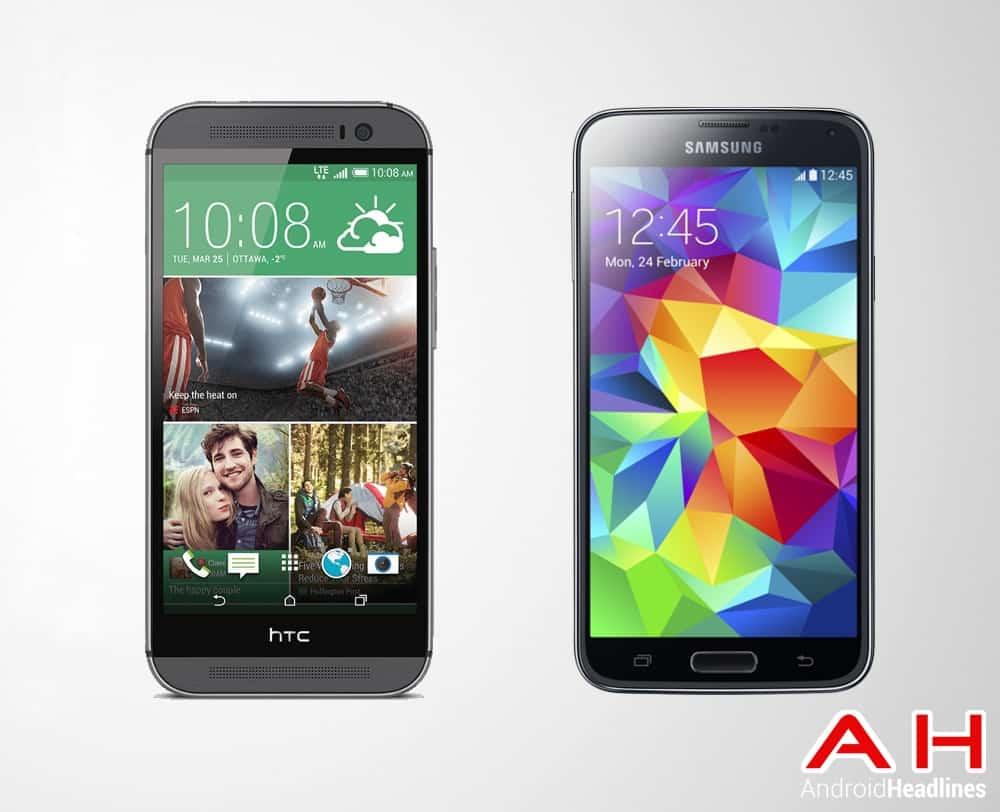 Samsung Galaxy S5 vs HTC New One M8 AH