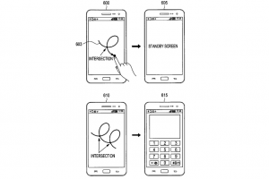 Samsung Files Patent For New Unlock Method Using Gestures With Intersecting Points