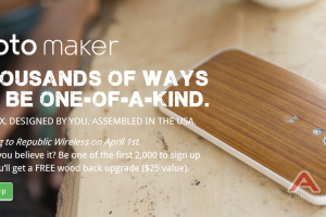 Republic Wireless Is Getting Moto Maker April 1st And Is Giving Away 2,000 Wood Back Promo Codes