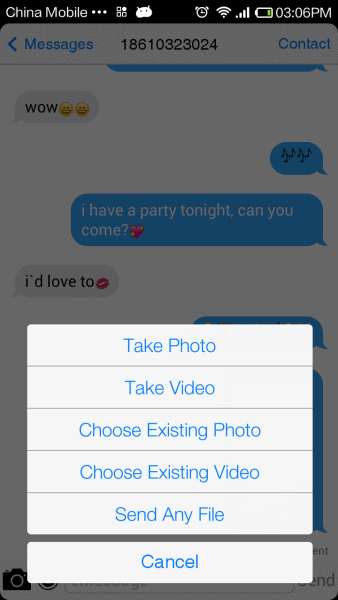 Send video, picture,or any file
