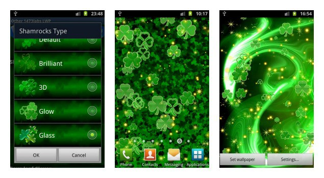 Shamrock Live Wallpaper Collage