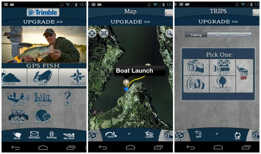 Trimble GPS Fish Free Collage