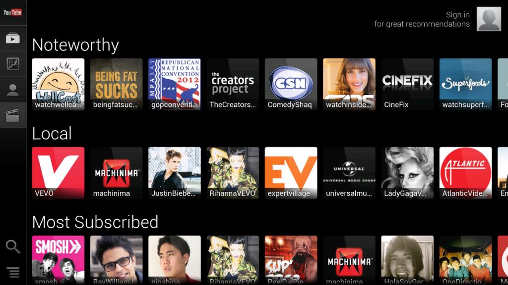 YouTube-Google-TV