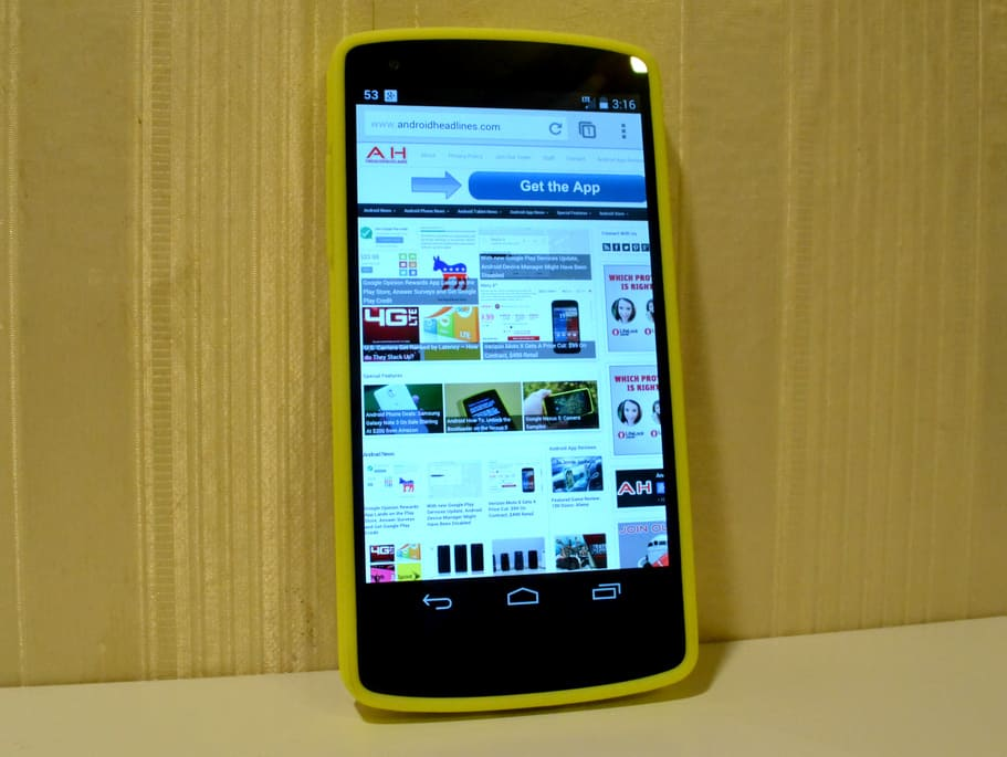 Google Changes Nexus 5 Bumper Nexus 5 Bumper Case Yellow